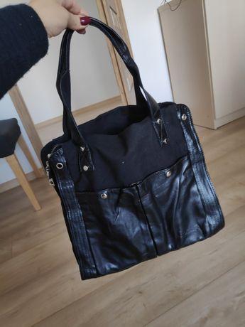 Torebka czarna nowa shopper bag retro