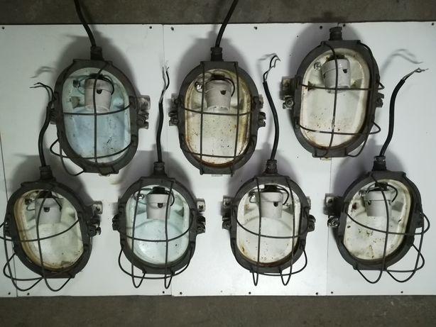 Lampy kinkiety żeliwne z PRL, loft, industrial