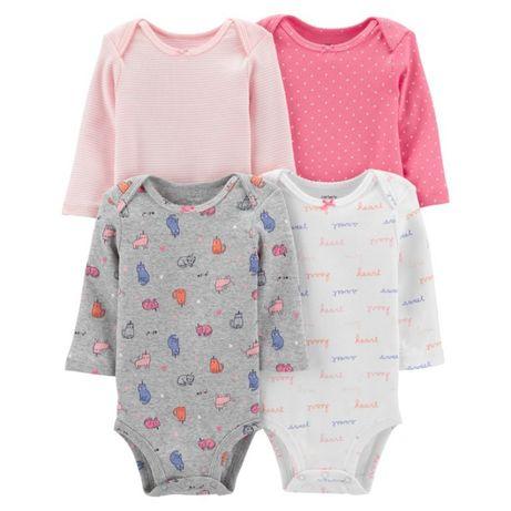 Комплект боді (бодік) Carter's для дівчаток 3 місяці 3 шт