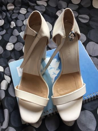 Szpilki ślubne 38 zara nowe słupek sandałki
