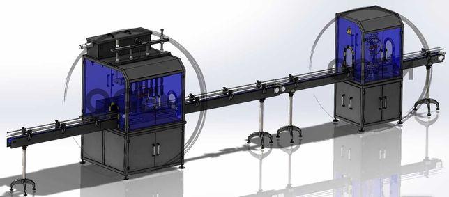 Linha de Enchimento Automática Para Produtos Químicos