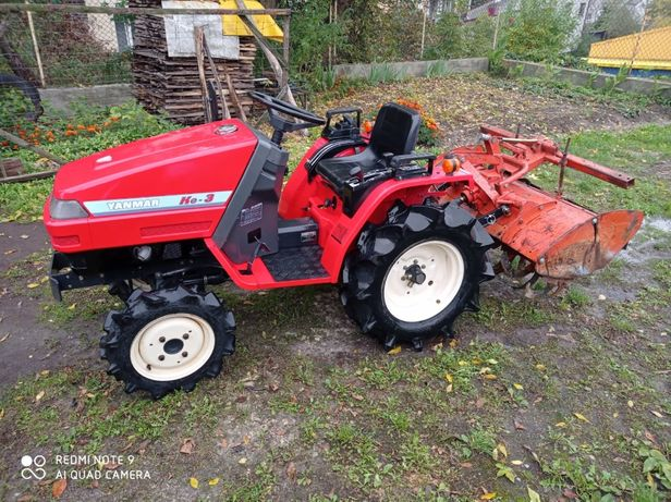Yanmar Ke-3 13KM 4x4+glebogryzarka/Japoński traktorek ogrodniczy