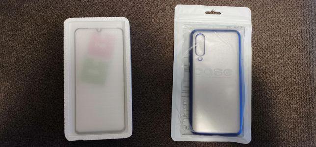 Capa em silicone + protector do visor para Xiaomi MI 9