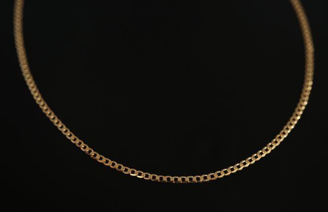 Złoto 585-złoty łańcuszek pancerka 55 cm