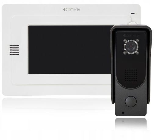 Wideodomofon Comwei Z1W, Brama, 7'' Zasilacz DIN