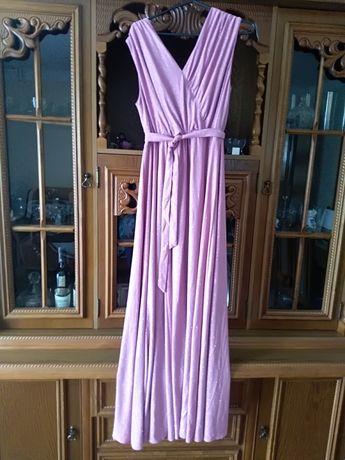 Długa suknia brokatowa XL