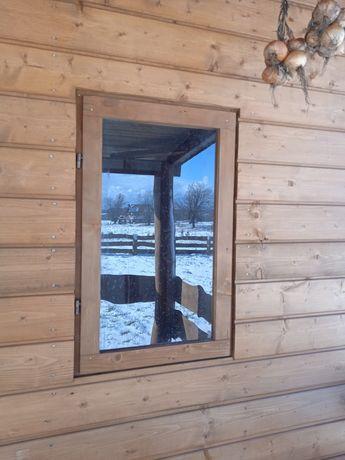 Okno drewniane gospodarcze