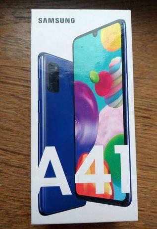 Nowy zaplombowany Samsung A41, gwarancja 2 lata, niebieski/blue