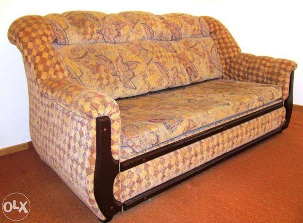 Komplet wypoczynkowy z funkcją spania 3+1+1 kanapa +2 fotele