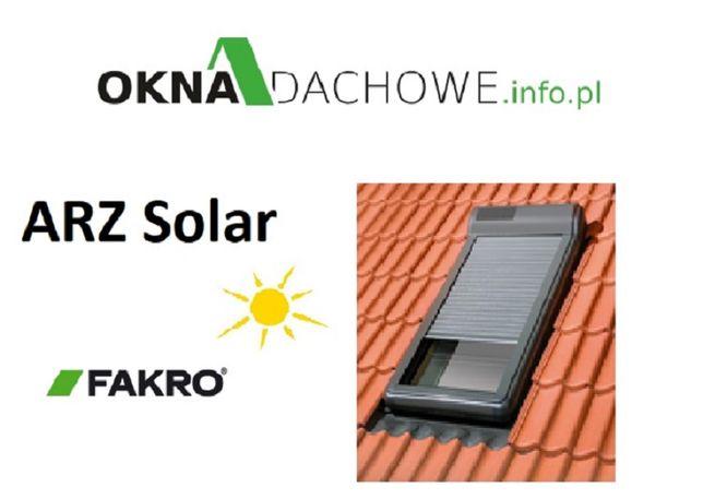 Roleta zewnętrzna do okna FAKRO Optilight typ ARZ SOLAR 78x140