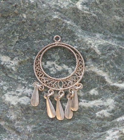 Wisiorek styl boho srebro 925