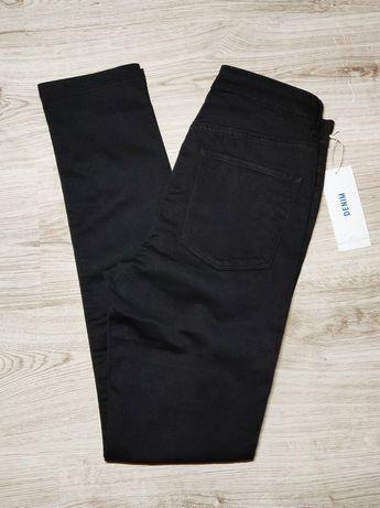 Skinny jeansy z wysokim stanem H&M, rozmiar 28