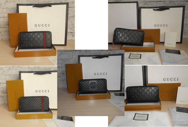 Фирменный кошелек портмоне клатч Gucci, кожа, Италия 60017