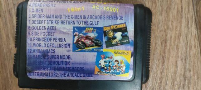 Картридж для приставки Сега(Sega) , многоигровка 16 в 1
