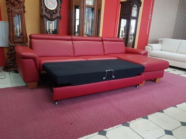 Новый уголок кожаный диван раскладной диван кожаная мебель Германия