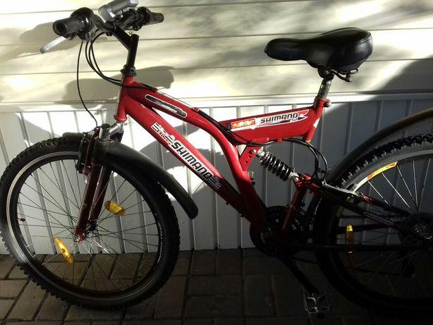 MTB Shimano велосипед красный взрослый подростковый 26 дюймов