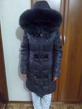 Зимний пуховик с натуральным мехом