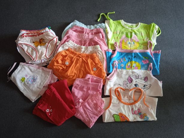Одежда для девочек. Шорты, майки, трусики, бриджи, юбка
