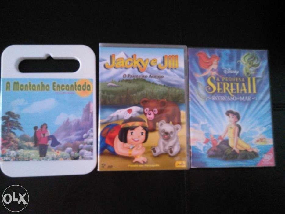 3 DVD histórias infantis Castelo Branco - imagem 1