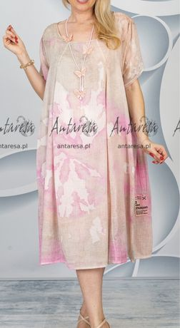 Pastelowa zwiewna sukienka Acqua&Limone 44-52