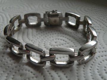 srebrna bransoletka proba 835 k286