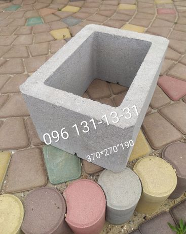 Шлакоблок для забора, камень универсальный столбовой от производителя