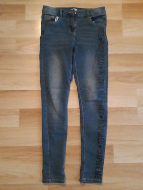 spodnie jeggins/ jeans 164
