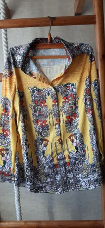 Рубашка блузка блуза красивая яркая roberto cavalli