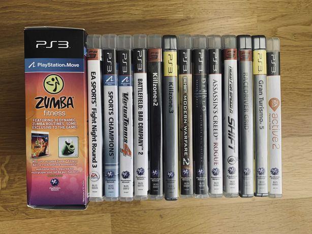 Gry PS3 (razem lub osobno) Diablo Zumba EA Active 2 Sports NfS itd