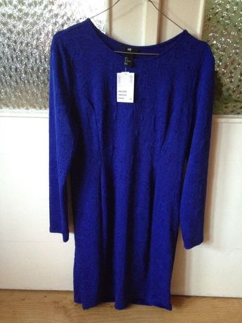 Nowa kobaltowa sukienka H&M rozmiar L