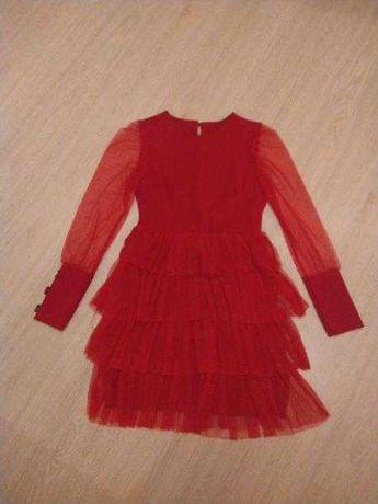 Sukienka czerwona rozmiar uniwersalny, takie m
