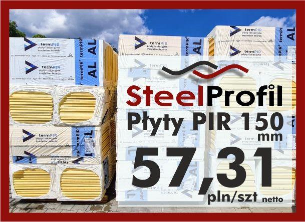 Płyta PIR poliuretan termPIR AL 150mm izolacja Płyty Izoproof XPS EPS