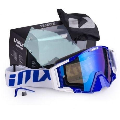 IMX Gogle Sand Blue/White Blue Iridium - Semax Elbląg
