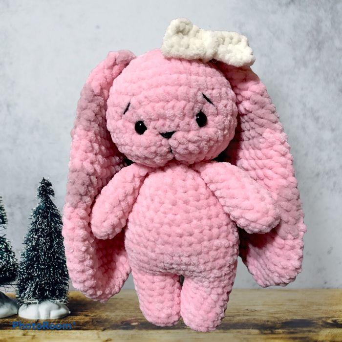 Плюшевый зайчик, вязанная игрушка ручной работы, подарок Киев - изображение 1