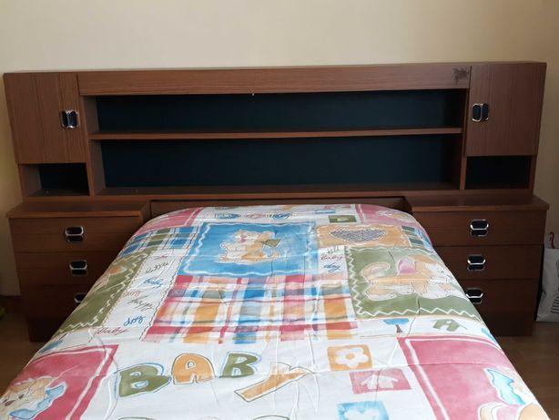 Mobília Quarto Solteiro Completa (inclui Roupeiro)