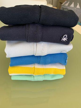 Pack polos (6) * 12/18 m * várias cores