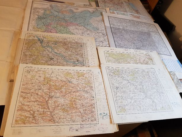Sprzedam lub wymienie stare przedwojenne mapy sztabowe
