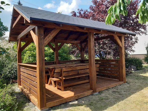 Garaż drewniany|zadaszenie tarasu|taras drewniany|altana|poliweglan