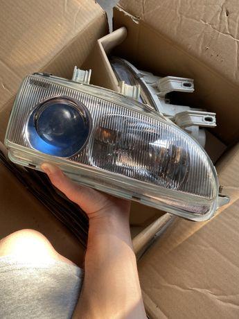 Faróis Denji Gen 1 headlights chrome + blue lenses (Civic 92-95)