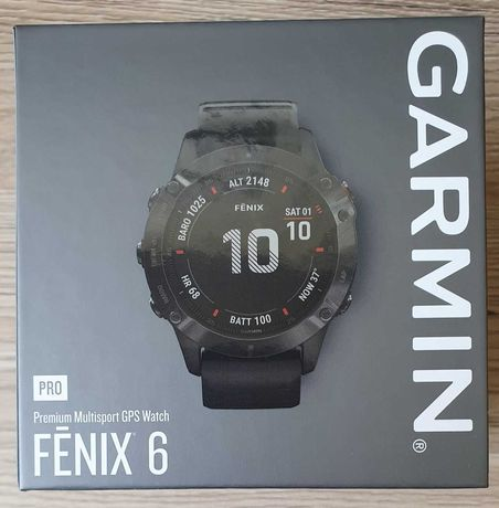 Smartwatch GARMIN Fenix 6 PRO czarny NOWY GW24 zaplombowany