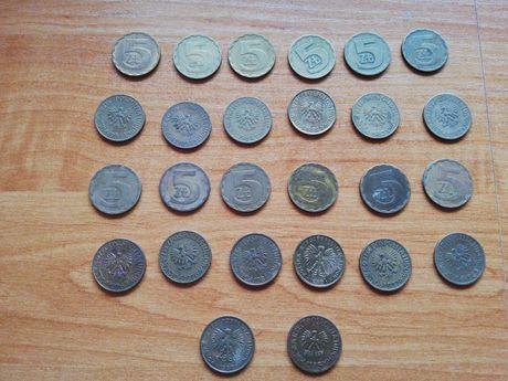 Moneta 5 złotych lata 1975/1987 (27 sztuk)