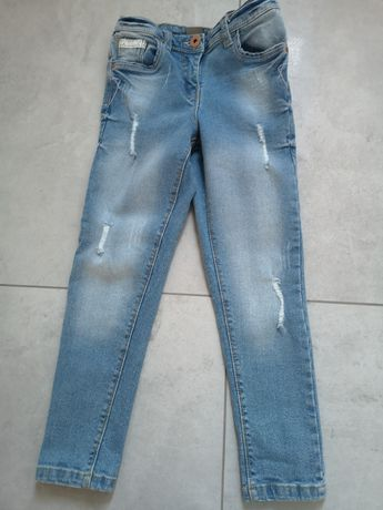 Spodnie dżinsowe dziewczęce 122 6-7 lat nowe