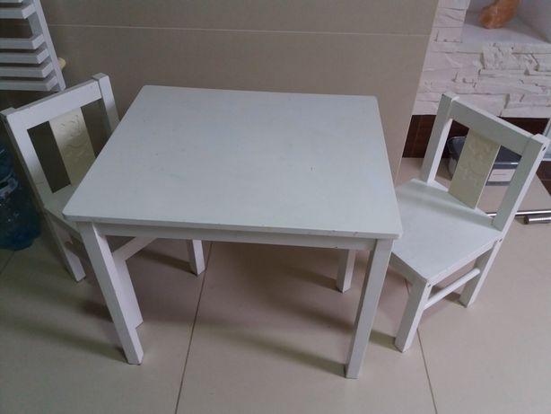 Stolik + 2 krzesełka IKEA drewno