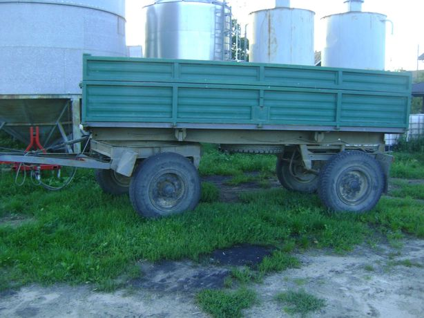 Przyczepa Rolnicza 6000kg 6t kiper 2 strony nadstawki  SANOK