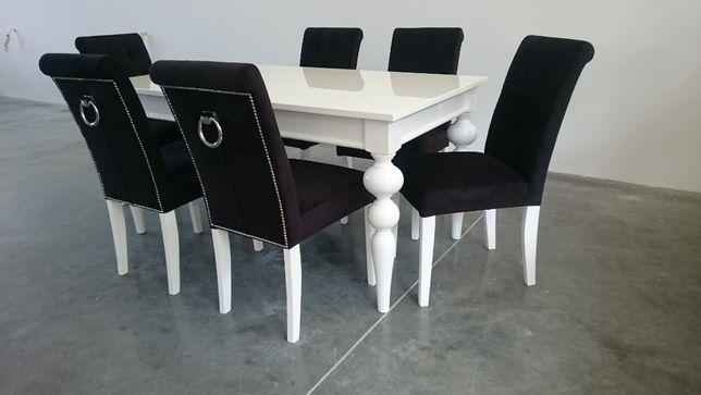 Krzesło glamour hampton z pinezkami kołatką tapicerowane producent