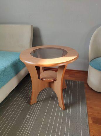 Stolik drewniany szkło