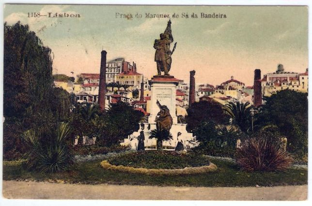 Lisboa – Praça Marquês Sá da Bandeira – Postal