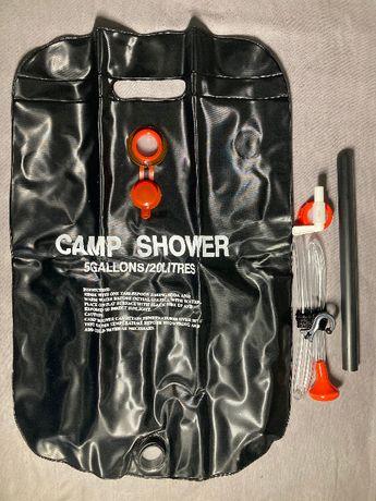 Мобильный портативный складной душ на 20 л для дачи/села
