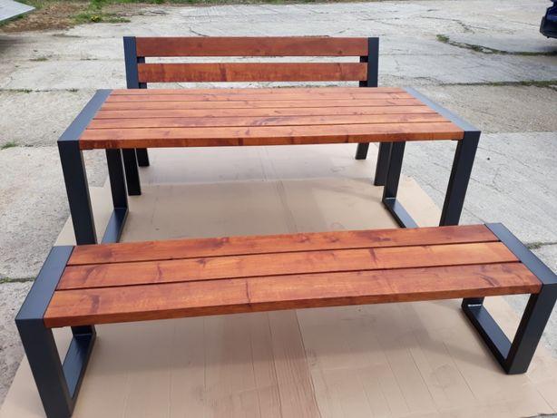 Meble ogrodowe stół i ławki