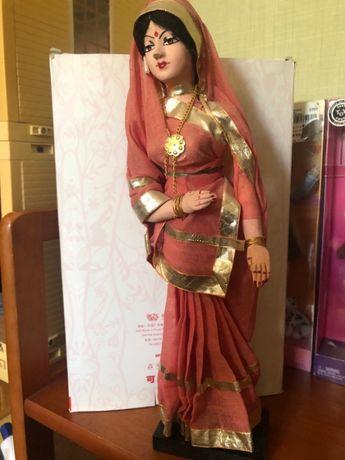 Кукла времен СССР Индианка в национальной одежде